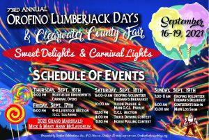 2021 Orofino Lumberjack Days Poster